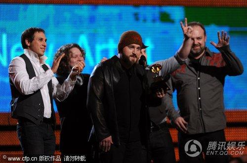 第52届格莱美现场:Zac Brown乐队获得最佳新人