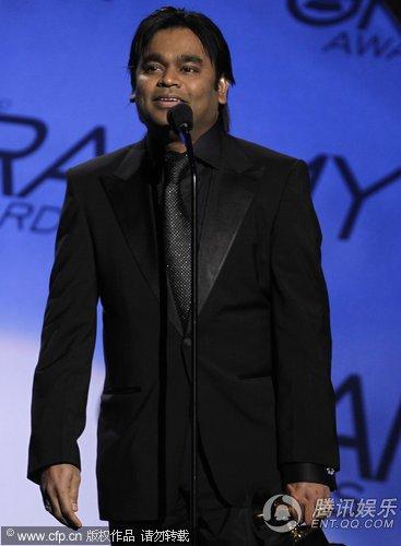 第52届格莱美:a.r.rahman获得最佳影视歌曲