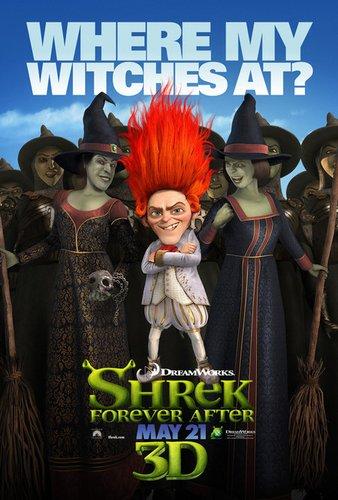 《怪物史莱克4》发布两支全新人物海报(图)