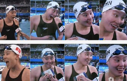 冠军表情表方笑情搞四川言傅园慧奥运走红!郎朗,你看?图片