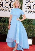 凯特琳蓝裙亮相