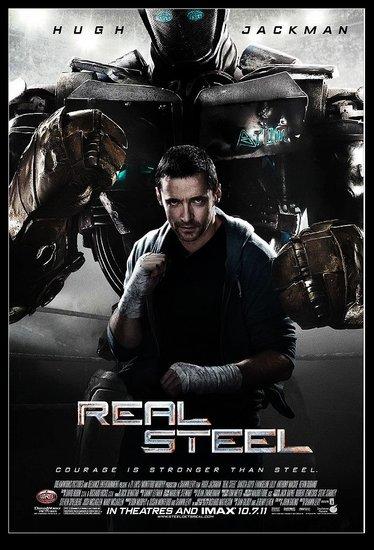 《铁甲钢拳》发新海报 休·杰克曼变机器人推手