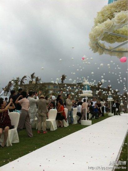 大S婚礼现场直击 在场嘉宾放飞气球追求幸福