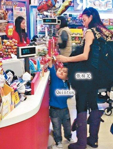 张柏芝带儿子买玩具 传与赵本山亮相辽宁春晚