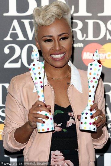 第33届全英音乐奖揭晓 艾梅莉获两奖成最大赢家