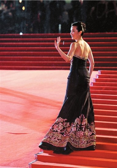 第14届上海电影节开幕式上 冯小刚获杰出贡献奖