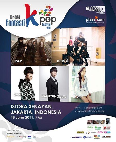 JYP旗下2AM、miss A等当红歌手人气席卷印尼