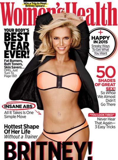 布兰妮腹肌又回来了!瘦身成功性感拍封面
