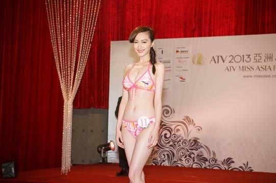 亚姐佳丽香港见媒体 潘姿彤笑言愿为角色增肥