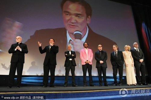 评委会主席昆汀登台致辞 庆贺电影节开幕(图)