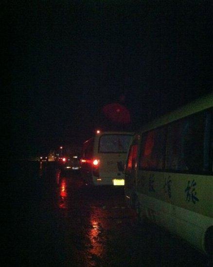 道路塌方致《鸿门宴》剧组被困 救援队赶赴现场