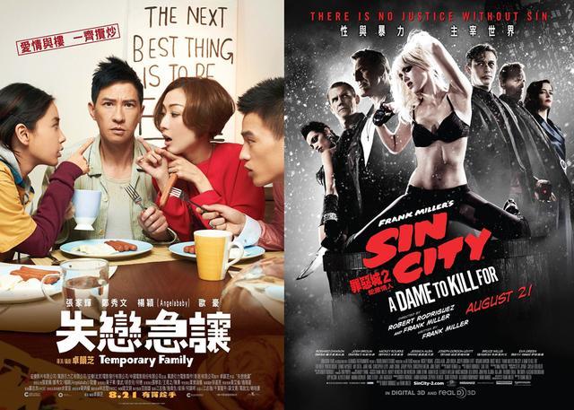 香港票房:《临时同居》登顶《罪恶之城2》遇冷
