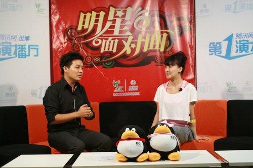 郑亦桐带来法国礼物 和刘德华拍戏很享受