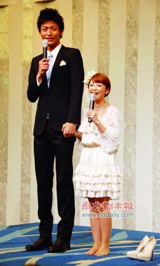 原早安少女组成员宣布结婚 与丈夫身高相差近50cm