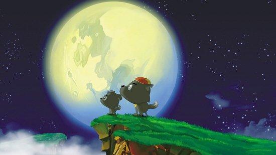 狼与月亮唯美