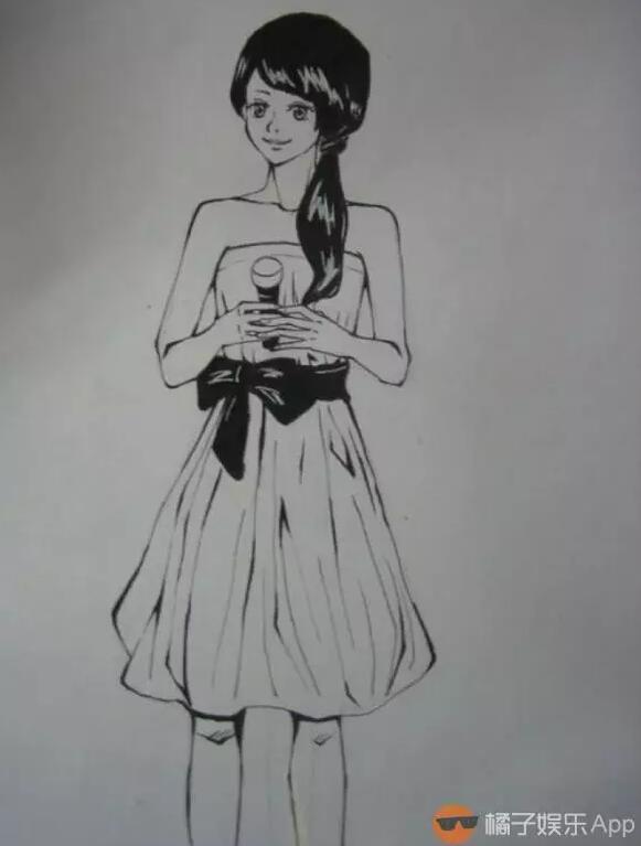 郑爽铅笔手绘图片