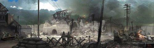 《金陵十三钗》曝手绘场景图 遍地狼烟气氛压抑