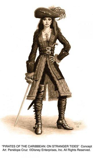 《加勒比海盗4》发布三张新设计稿 角色生动