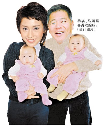 黎姿冒险高龄产双胞胎 送车送楼 物质奖励过亿