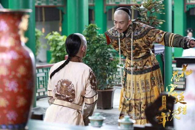 《花落宫廷错流年》热拍 赵滨皇袍加身热情洋溢