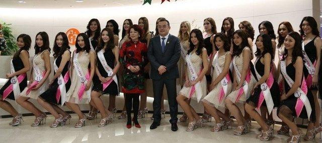 亚姐广州接受美体专业训练 翻版刘亦菲受关注