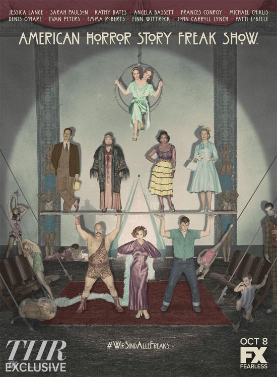 《美国恐怖故事:畸型秀》正式海报首发