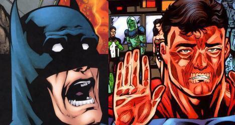 漫画中的蝙超大战:蝙蝠侠完虐超人?你逗我?女主漫画图片的m图片