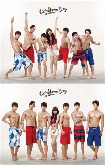 2PM裸上身秀完美腹肌 missA秀智被师兄团簇拥