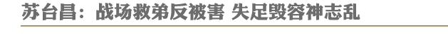 苏台昌:战场救弟反被害 失足毁容神志乱