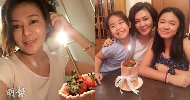 关之琳丑闻图片全集-关之琳提前庆54岁生日 晒与钟镇涛两女儿合照图片