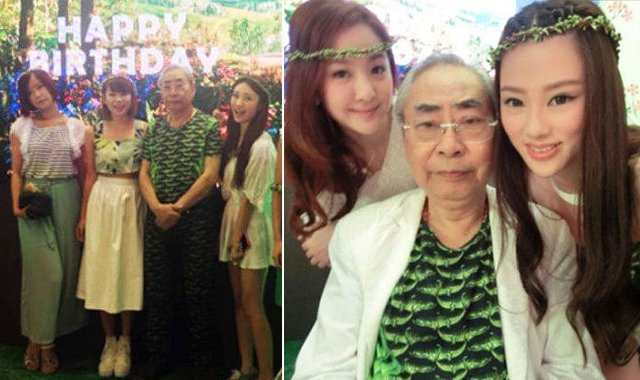 爷孙恋富商办派对庆77岁生日 获众女伴相陪