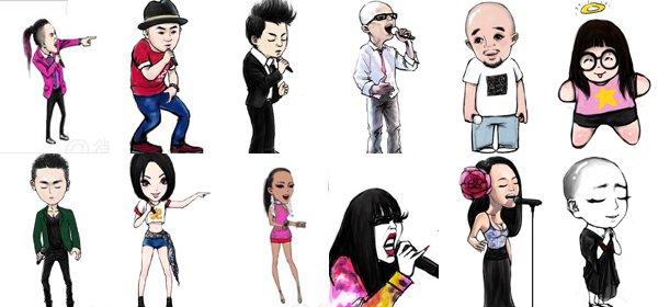 网友为选手设计的漫画形象
