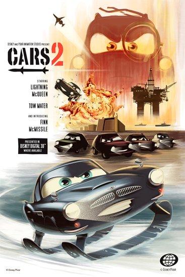 汽车总动员2 发布复古板公开海报 堪比007高清图片