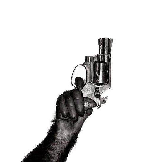 《猩球崛起2》曝先行海报 猩猩举枪与人类死战