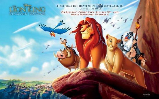狮子王电影海报手绘