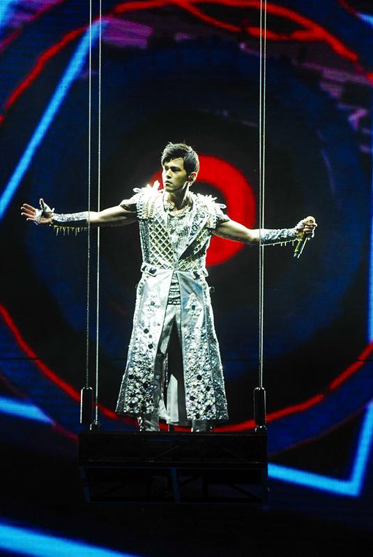 周杰伦2015魔天伦2世界巡回演唱会丽水站酷炫上阵