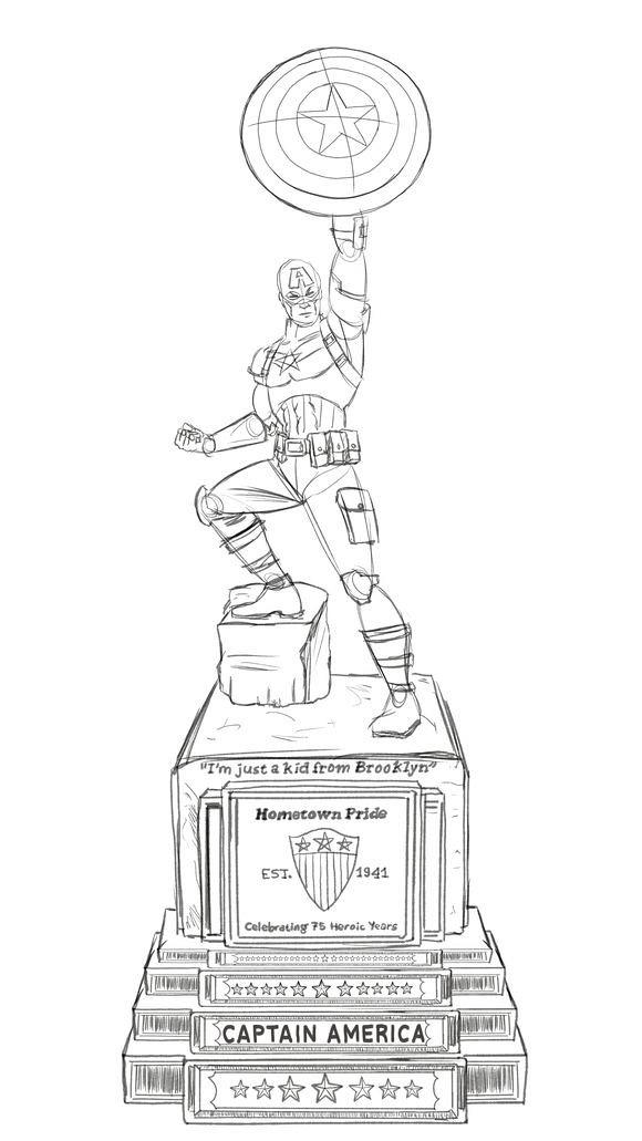 漫威将在SDCC揭幕巨型铜像纪念美队诞生75周年