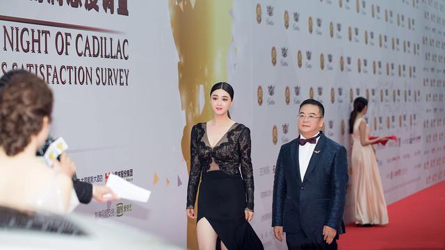 蒋欣深V长裙 获华鼎古装题材电视剧最佳女演员
