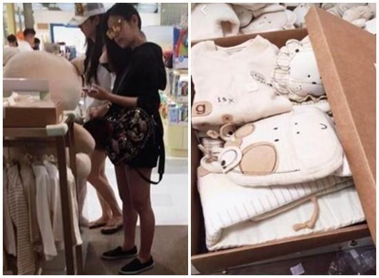 陈妍希怀孕7月双腿超细 买婴儿衣泄露宝宝性别