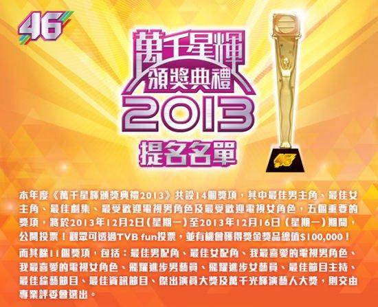 TVB台庆完整提名名单曝光 张智霖视帝呼声最高