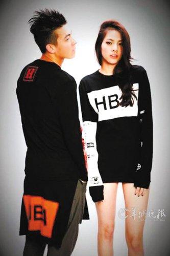 陈冠希提拔女友当品牌模特 合照大秀性感帅气