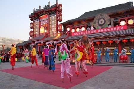 刘老根大舞台高跷秧歌图片