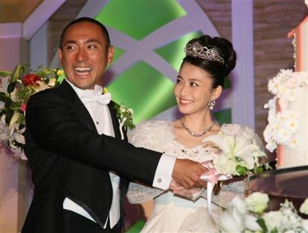 市川海老藏与小林麻央办豪华婚宴 花费五亿日元
