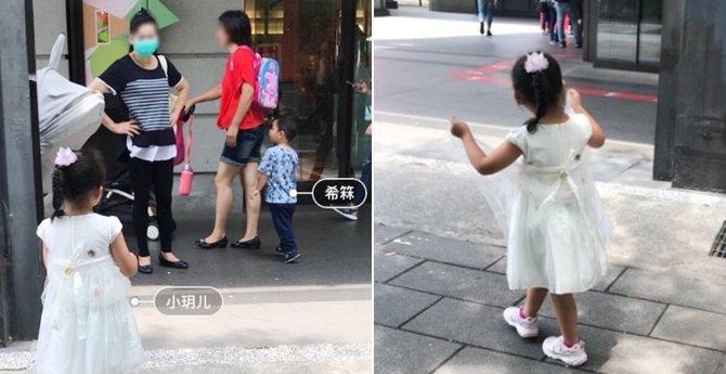 网友偶遇大S一双儿女逛商场,小�h儿和弟弟都这么高了