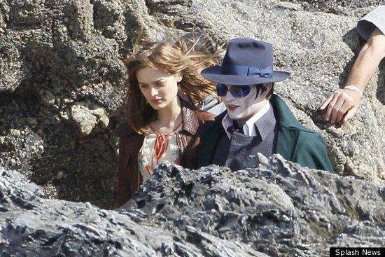 约翰尼·德普现身《黑暗阴暗》片场 造型神似MJ