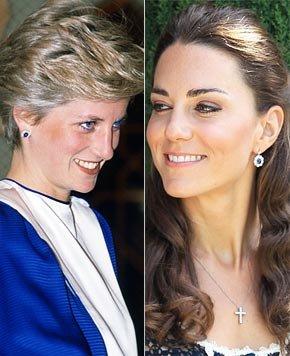 凯特获赠戴安娜心爱耳坠 暗示王妃融入皇室(图)