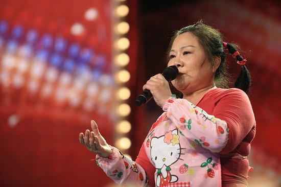 资料:《中国达人秀》第二季六强选手菜花甜妈