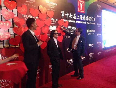 陈龙黑超亮相上海电影节 新作打造3D传奇巨制