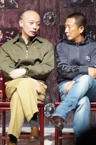 葛优与张黎在冯小刚导演的《夜宴》发布会上