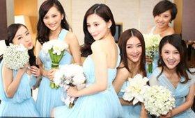如此美艳的伴娘团为李小璐婚礼增色不少